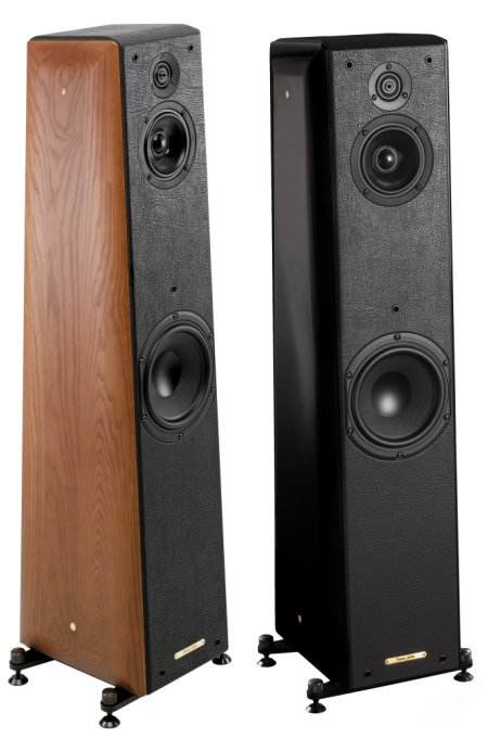 Sonus Faber Toy Tower Wood Noce e Toy Tower Black Nero