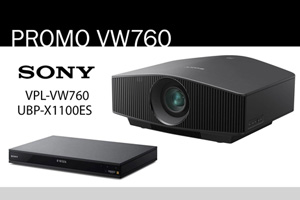 Visualizza il bundle -   Sony VPL-VW760ES + UBP-X1100ES