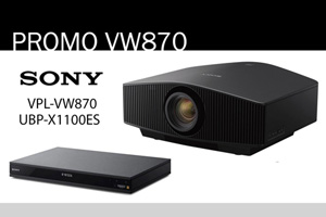 Visualizza il bundle -   Sony VPL-VW870ES + UBP-X1100ES