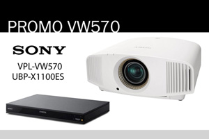 Visualizza il bundle -   Sony VPL-VW570ES + UBP-X1100ES