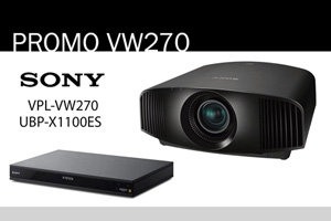 Visualizza il bundle -   Sony VPL-VW270ES + UBP-X1100ES